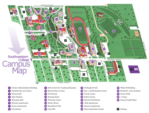 Southwestern College Campus Map Other   Southwestern College