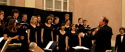 Gardner Directing Choir Photo