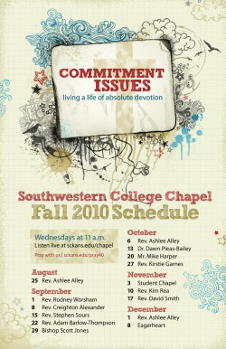 Chapel Schedule: Fall 2010