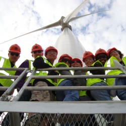 Green Team Tour of Flat Ridge Wind Farm