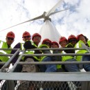 Green Team students at the Wind Farm