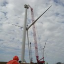 Blades of a Wind Turbine being taken off