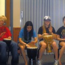 Youth Group Members playing drums