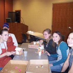 Builders help with William Newton Memorial Hospital Gingerbread Festival
