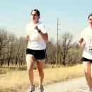 Girls running in Leadership Road Race
