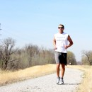 Tyler Combs runs the Road Race trail