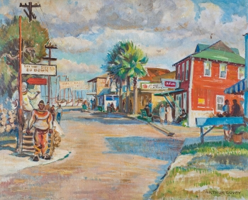 Sponge Docks at Tarpon Springs by Arthur Covey