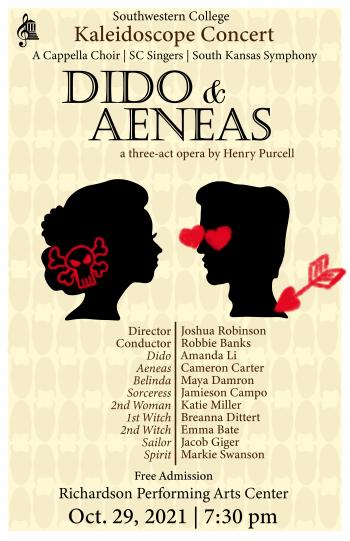 Kaleidsoscope Concert: Dido & Aeneas Poster